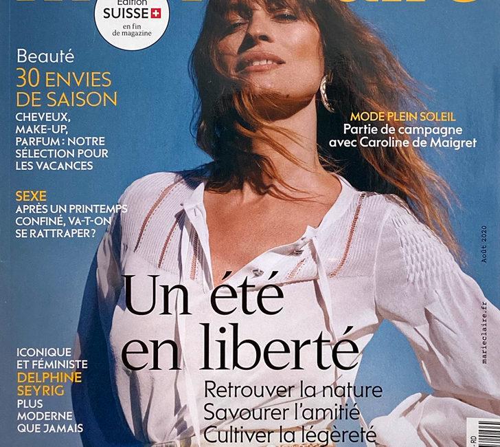 Couverture magazine Marie-Claire août 2020